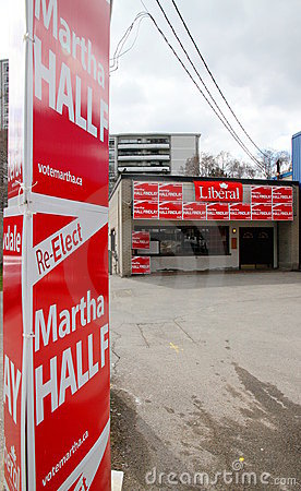 Election Canada Editorial Photography