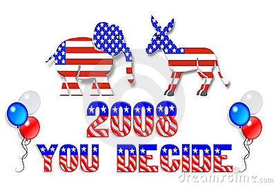 Election Day 2008 Clip Art Editorial Image - Image: 5209415