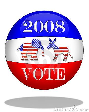 Election Day 2008 graphic Editorial Photo