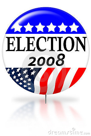 Election day 2008 vote button