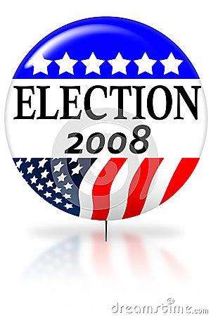 Free Election Day 2008 Vote Button Stock Photo - 4081880