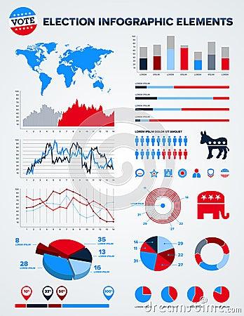 Election infographic design elements