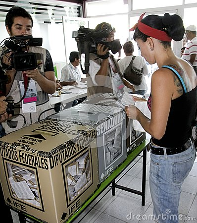 Elections in Mexico Editorial Stock Image