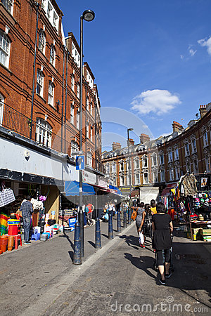 Electric Avenue in Brixton Editorial Stock Image