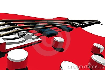 Electric bass perspective