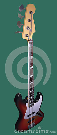 Electric Bass Stock Photo