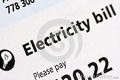Electric Bill Statement