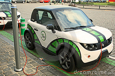 Electric car Editorial Stock Image