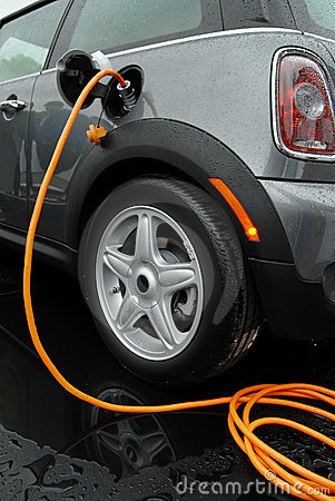 Electric Car Charging Royalty Free Stock Photos - Image: 14188438