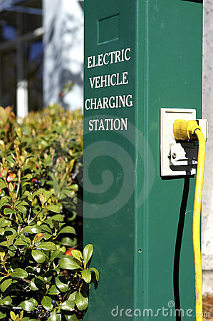 Free Electric Car Charging Station Royalty Free Stock Photos - 206268