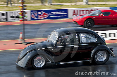 Electric car drag racing Editorial Stock Image