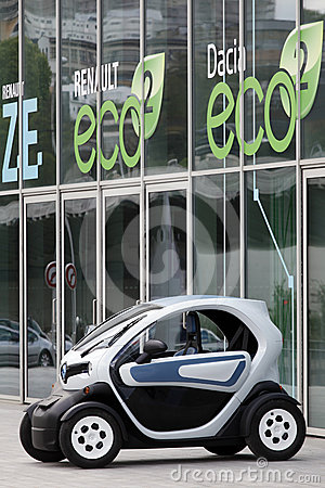 Electric car renault twizy Editorial Photo