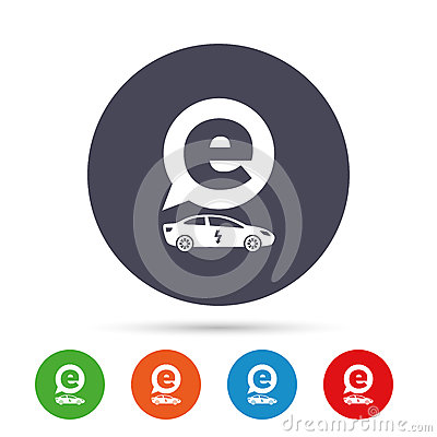 electric car sign icon sedan saloon symbol stock vector image 88980083. Black Bedroom Furniture Sets. Home Design Ideas