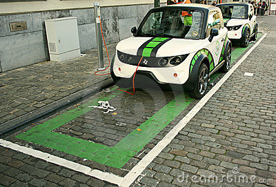Electric cars Editorial Photography