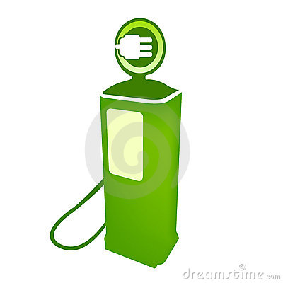 Electric clean fuel pump vector