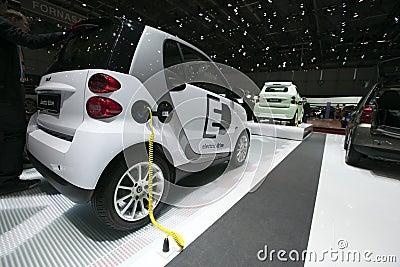 Electric Drive Smart Car - 2009 Geneva Motor Show Editorial Stock Photo