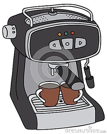 Electric Espresso Maker Stock Vector - Image: 50886257