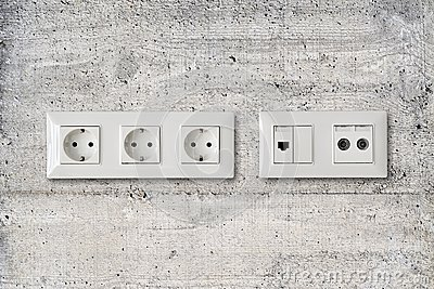 Electric ethernet and antenna socket