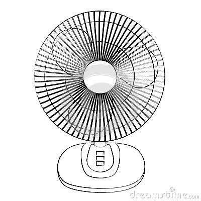 Electric Fan Cartoon Vector | CartoonDealer.com #51725291