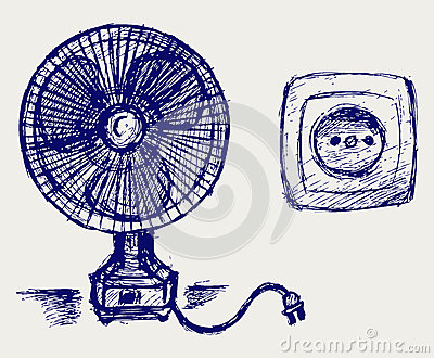 Electric fan and socket