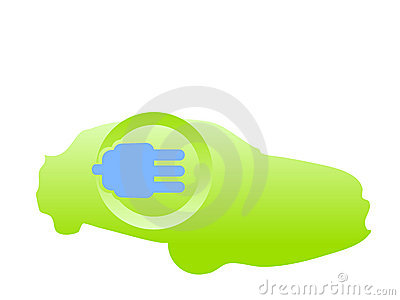 Electric fueled car logo vector