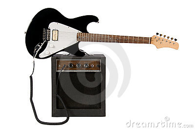 Electric Guitar with Amp
