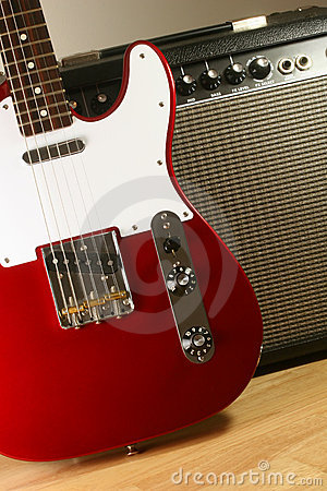 Free Electric Guitar And Amp 2 Stock Photos - 700583