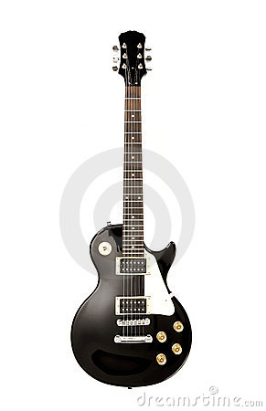 Free Electric Guitar On White Stock Photo - 7634950