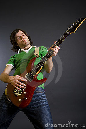 Electric guitar player