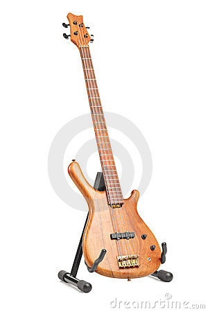 Electric guitar on a stand