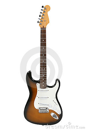 Free Electric Guitar (Sunburst Fender Stratocaster) Royalty Free Stock Photo - 7373775
