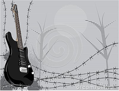 Electric guitar and thorns