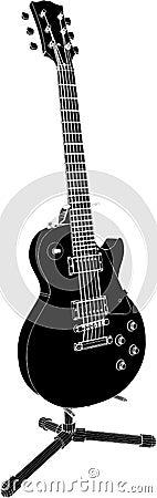 Electric Guitar Vector 01
