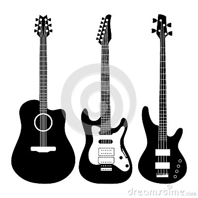 Free Electric Guitar Vector Royalty Free Stock Photos - 50185578