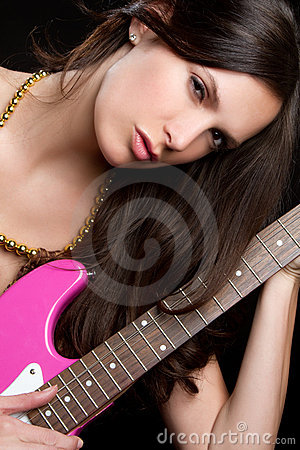 Electric Guitar Woman