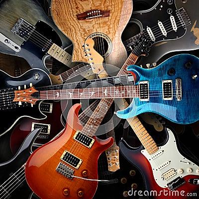electric guitars background stock photo image 44121307. Black Bedroom Furniture Sets. Home Design Ideas
