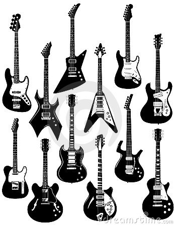 Free Electric Guitars On White Royalty Free Stock Photo - 6279445