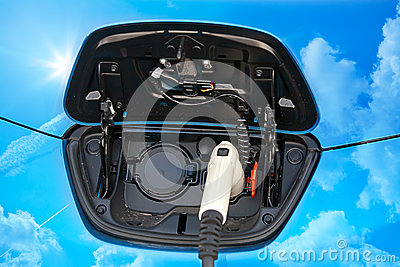 Electric hybrid car charging socket