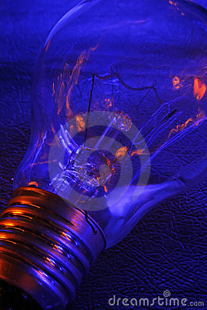 Electric tungsten light bulb