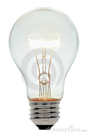 Electric Light Bulb Incandescent Filament Glowing