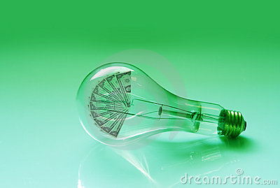 Electric Light Bulb and Money