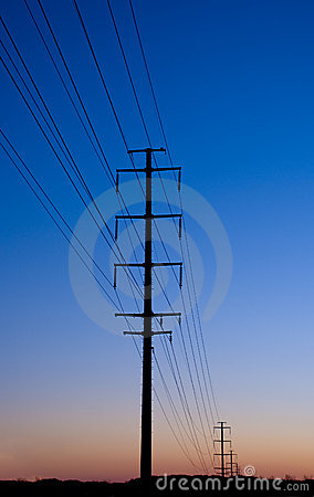 Electric Lines at Sunset