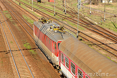 Electric locomotive E.499.3 Editorial Image
