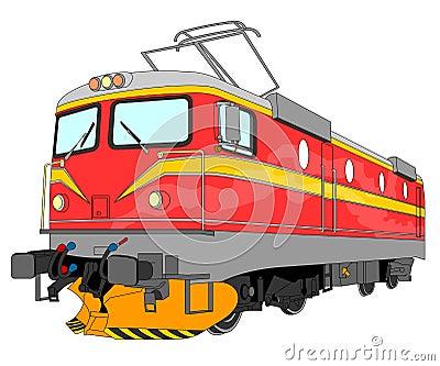 Electric locomotive illustration