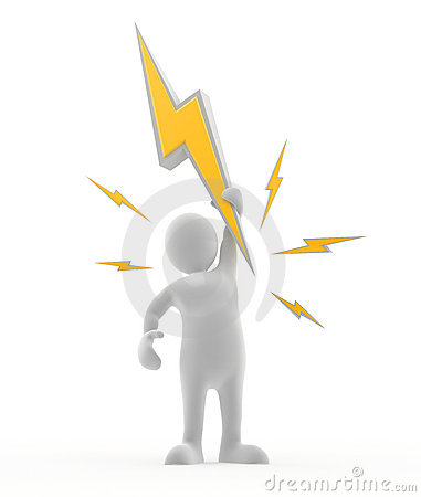Free Electric Man Stock Photography - 17677782