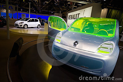 Electric Motor Concept Car Renault ZE Behind Editorial Image