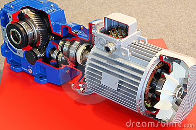 Electric motor with gears