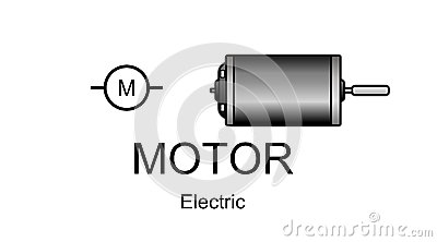 Electric motor icon and symbol