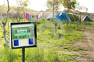 Electric panel in camping