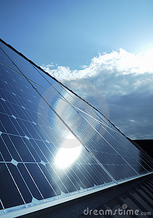 Free Electric Photovoltaic Solar Panels Cells Stock Photo - 11898550